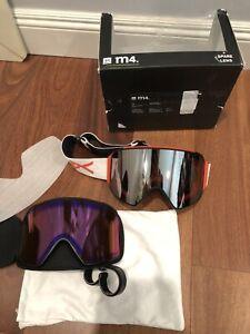 NEW Anon M4 Ski Snow Goggle 2x Lens Burton Sonar Silver/ Blue Zeiss Cylindrical
