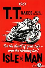 Isla De Man TT Racing Poster Motocicletas Moto impresión A4