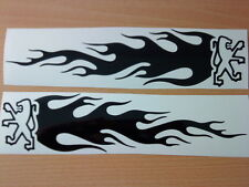"medium 12x3"" peugeot 106 206 207 306 307 vinyl car sticker flames side graphics"