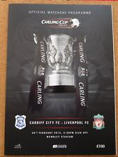 Carling Cup/Liga Cup Final Programm FC LIVERPOOL-CARDIFF CITY 11/12 im WEMBLEY
