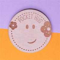 Wooden Pocket Hug Tokens Smile Keepsake Gift for Her for Him Friends Mum Dad