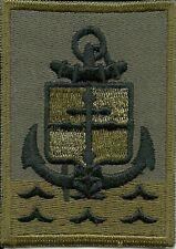 Insigne tissu, Patch  Militaire de la 9 BIMA Basse Visibilité Kaki