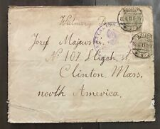 Poland 1919 early cover Eagle stamps with special handstamp