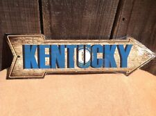 """Kentucky State Flag This Way To Arrow Sign Directional Novelty Metal 17"""" x 5"""""""