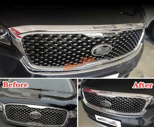 Chrome  ABS Front Hood Bonnet Lip Molding Cover Trim For KIA Sorento 2016-2020