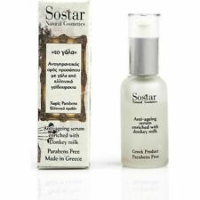SOSTAR  Anti Aging  serum Hyaluronic Acid 30ml 1.01oz. Enriched with donkey milk
