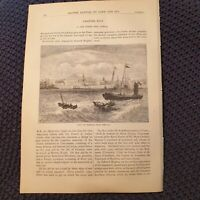 View of Madras, From the Sea -  British Battles - 1890s Book Page