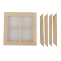 Dollhouse Miniature Wooden 4 Pane Window Diy Accessory H1B1