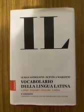 VOCABOLARIO LATINO - ITALIANO / ITALIANO - LATINO IL CASTIGLIONI MARIOTTI USATO