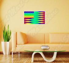 "Rainbow Lesbian Gay Pride USA Flag LGBT Wall Sticker Room Interior Decor 25""X18"""