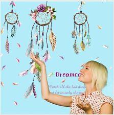 Wall stickers dreamcatcher feathers decal home kids nursery decor removable Au