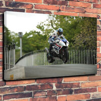"Guy Martin Isle Of Man TT Wall Art Printed Canvas Picture A1.30""x20""30mm Deep"