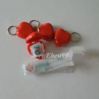 20 stücke CPR Masken KeyChain Mund Zu Mund CPR Shields AED hilfe Ausbildung Rot
