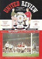 Manchester United v West Ham - 1991/92 - Division 1