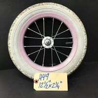 "Complete 12"" Front Bicycle Pink Wheel w/ Tire 12 1/2 X 2 1/4"" Kids Bike #H49"