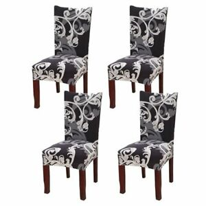 4 Pack Stretch Dining Chair Cover Removable Slipcover Washable Banquet Furniture