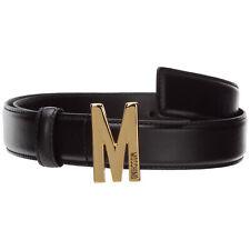 Moschino cintura damen m a801580062555 Leder verstellbar Nero