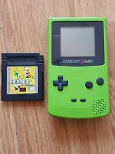 Nintendo Game Boy Color Kiwi Console with Ronaldo V-Football in Great Condition