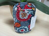 Vera Bradley Tropical Evening Print Double Eyeglass/Sunglass Soft Pouch Case NWT