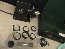 Cine film projector PULLIN 35mm film strip & slides many CONDENSER lens + case 1