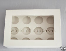 12 Hole 6 cm Diameter Cupcake Cup Cake Muffin Clear Window Box Boxes set of 10