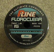 pline clear fluorocarbon line 15lb 600 yd NEW p line