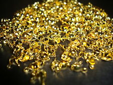 100pcs 8mm x 4mm Gold Plated charlottes calottes necklace crimp beads findings