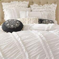 6-Pc Anthology Clara White Ruffle Comforter Set French Shabby Chic 100% Cotton