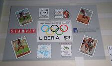 "FRANCOBOLLI STAMPS LIBERIA 1988 ""OLIMPIADI / OLYMPICS SEOUL"" MNH** BLOCK (C.4)"