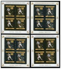 CONGO WORLD CUP 2014 BRAZIL FULL GOLD AND SILVER FOIL SET SOCCER TRAIN SPACE
