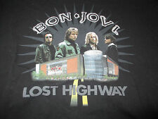 """2007 Bon Jovi """"Lost Highway"""" All Roads Lead To The Rock Concert (Med) T-Shirt"""