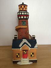 Christmas World of Dickens Fortune Island Lightouse Village Decorative