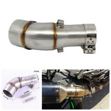 Silver Modified Motorcycle Exhaust Middle Pipe Stainless Steel Muffler Link Pipe