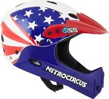 Nitro Circus H12 Stars & Stripes Full Face Helmet Red/White Skateboard Bicycle