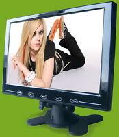 9'' HD 800x480 Ultra Thin TFT LCD HDMI VGA Input  AV HD Monitor w/ Speaker- US