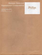 Kazimir MALEVICH. Suprematist Composition. New York, Phillips Auctioneers, 2000.