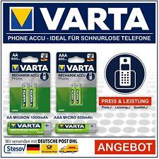 Varta Phone Akku AA 1600mAh l AAA 800mAh Accu für Schnurlos Telefon Blister