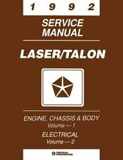 Oem Repair Shop Manual Bound For Plymouth Laser 1992