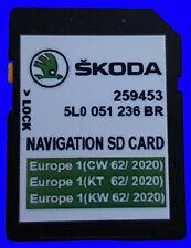 SKODA SCALA KAROQ SUPERB KODIAQ SD Aggiornamento Mappe EUROPA 2020 /21 AUTOVELOX