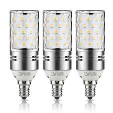 Yiizon 12W LED Corn Bulbs, Candelabra Light 3000K Warm White, 1200LM, E12...