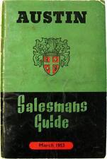 AUSTIN Cars Commercials Salesmans Guide  Original Brochure Mar 1953 #954/E