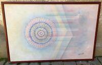 W Knight - L' Universo - Olio su tela - 70x105 cm - scuola americana 20th