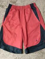 Mens AIR JORDAN  basketball shorts size Medium RED/BLACK preowned