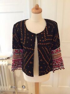 MARIAS BLACK EMBROIDERED JACKET SMALL