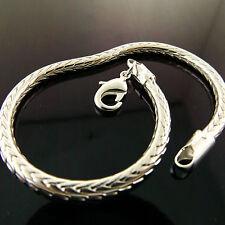 Bracelet Bangle Real 925 Sterling Silver S/F Solid Snake Cuff Design Fs3A869