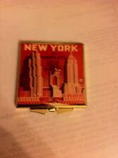 New York City Landmark Buildings Souvenir Square Silver Mirror Compact
