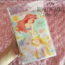 Disney Japan Kawaii Disney Princess Letter Set From Tokyo Ariel Belle Rapunzel