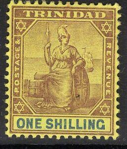 TRINIDAD SG141 1904 1/= BLACK & BLUE/YELLOW MTD MINT