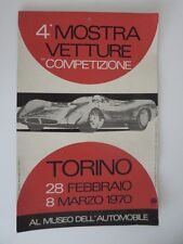 RARE 1970 Turin Torino Italy Al Museo Dell Automobile Racing Car Exhibit Poster