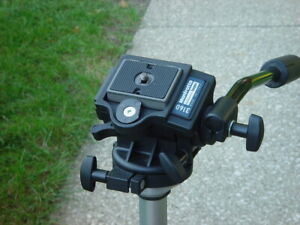 Bogen 3001D tripod and bogen 3160 head with quick release plate and bag